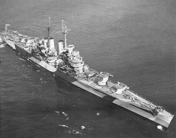 image of Picture of the USS St. Louis (CL-49).