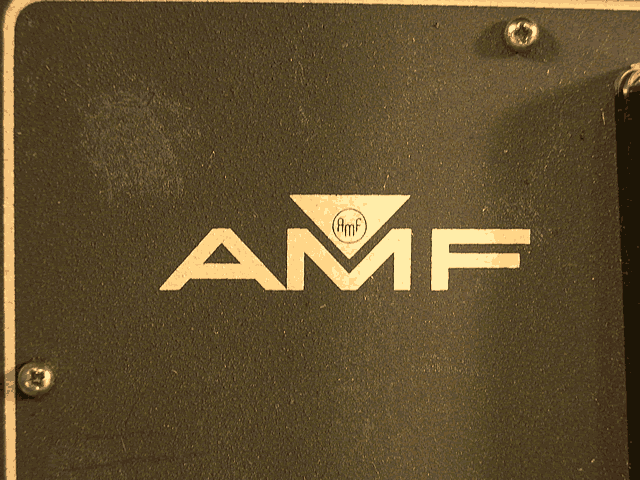 AMF logo close-up.