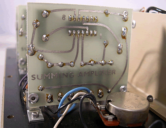 Summing amplifier board view.
