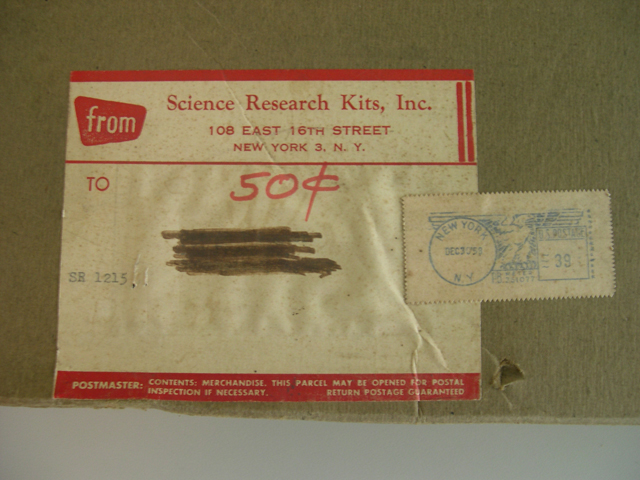 Closeup of shipping label.