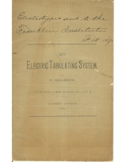 image of the An Electric Tabulating System; Author's Edition
