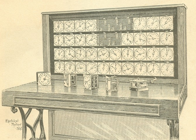 The Tabulator section of system as shown in the author's edition of the <i>Electric Tabulating System</i>