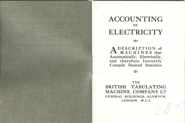 Inside front cover and title page of booklet
