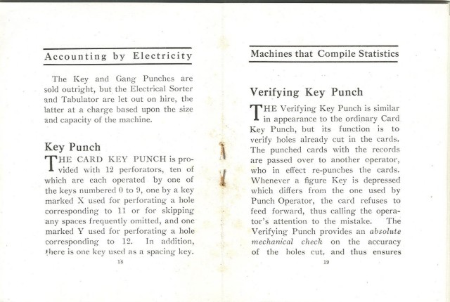 Text on the key punches.