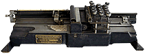 A view of the vintage Type 001 Keypunch, British Tabulating Machine Company, Ltd. an important part of computer history