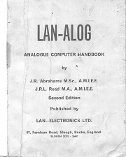 A view of the vintage LAN-ALOG Analogue Computer Handbook an important part of computer history