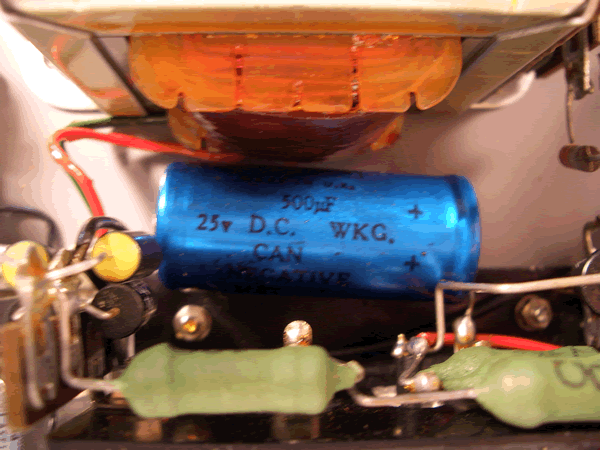 A large 500uF capacitor.