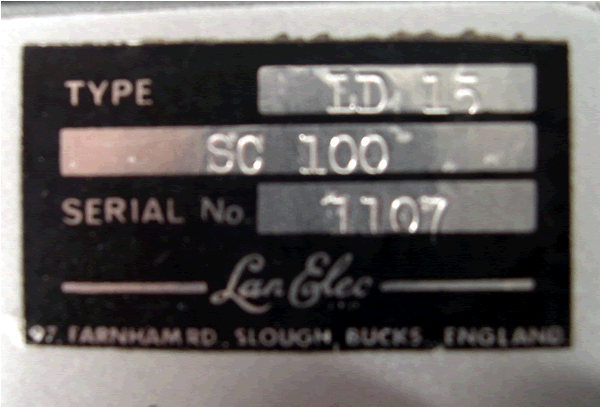 Serial for the LD-15.