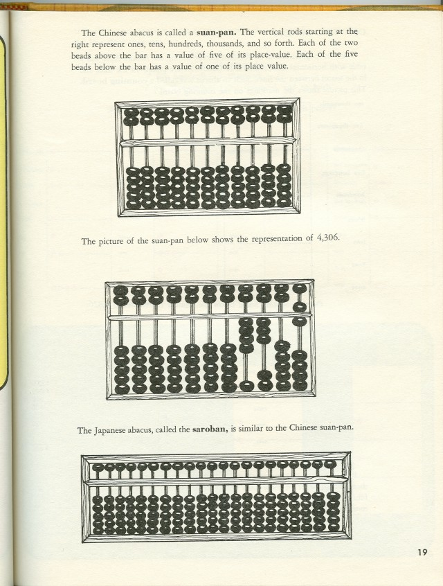 Sample page talking about different types of the abacus.