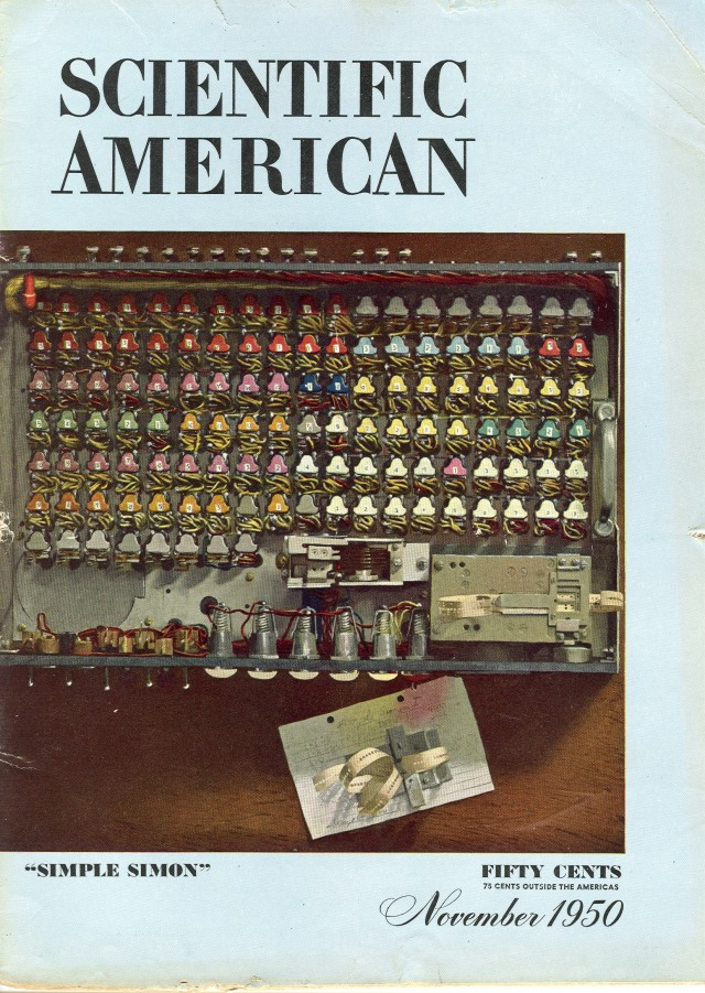 Cover of Novermber 1950 issue of Scientific American.