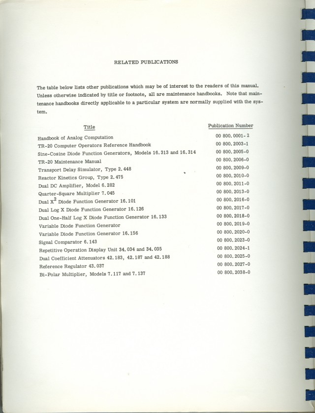 A list of other EAI publications related to this manual.