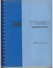 A view of the vintage Electronic Associates Inc. TR-20 Manual an important part of computer history