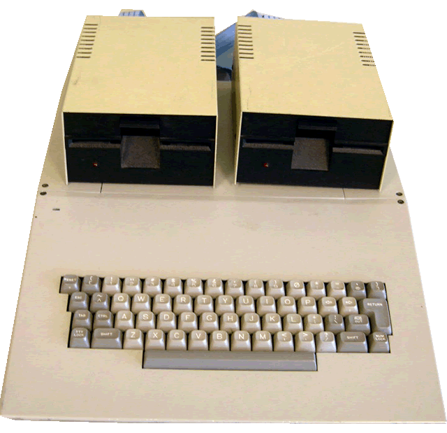 top/front view of the computer
