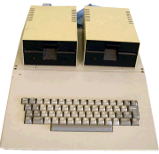 A view of the vintage Tektronix Apple II an important part of computer history